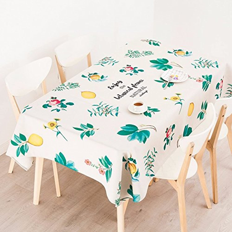 descuento online 110 110cm Beige verde Hoja escandinavo moderno moderno moderno naturaleza Instagram mantel algodón lino mesa de comedor Picnic Rectangular cuadrado ecológico cubre  barato