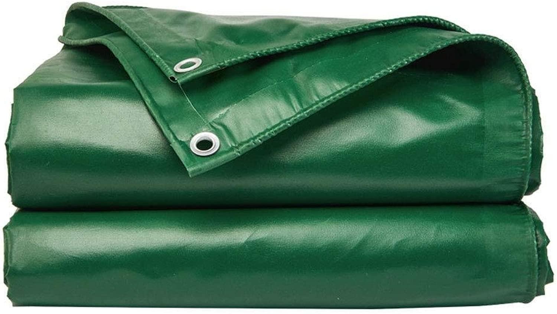 防水ターポリンを厚くする-防塵防雨ターポリン、アンチエイジング断熱-キャンプフィッシングガーデニング (Color : 緑, Size : 9x7m)