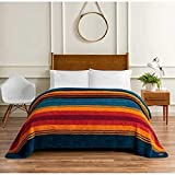 Pendleton King Grand Canyon Multi Sherpa Blanket 112 by 92 Over 10,000 Square in