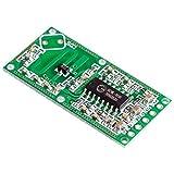 Módulo inalámbrico Práctico conveniente del cuerpo humano Módulo de detección, RCWL-0516 Microondas Horno sensor de radar de conmutación inteligente del módulo del sensor del detector inteligente 5 -