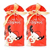 YXZQ 50PCS Bag - 23,5x15x6cm Geschenkverpackung Christmas Goody Bags Xmas Candy Sweet Bag mit...