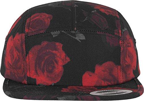 Flexfit Roses Jockey Cap Kappe, blk/Red, one Size