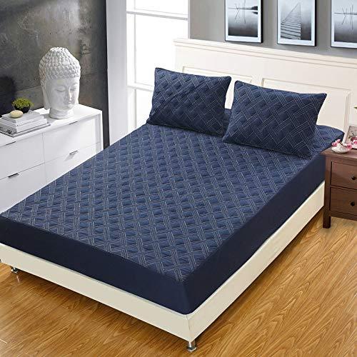 haiba Sábana bajera ajustable para cama individual, 100% algodón puro con diseño extra profundo, sábana bajera ajustable para cama individual de 100 x 200 + 25