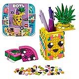 LEGO Dots Ananas Portapenne, Accessori da Scrivania Fai da Te, Decorazioni Cameretta, Kit Lavoretti Creativi per Bambini, 41906