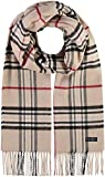 FRAAS Cashmink® Scarf with Plaid Beige