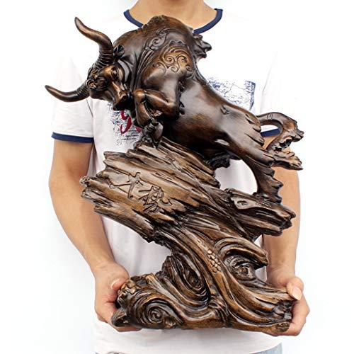 ZEQUAN Joyas de Arte Accesorios para el hogar joyería de la Vaca de la Suerte Caoba Talla artesanía salón de Vino gabinete Escritorio artesanías Adornos Decorativos (Color : A, Size : Trumpet)
