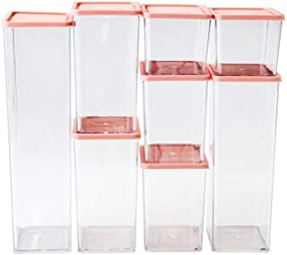 Ensemble de 8 conteneurs alimentaires transparents, organisateurs de stockage de cuisine pour réfrigérateurs et placards, ...