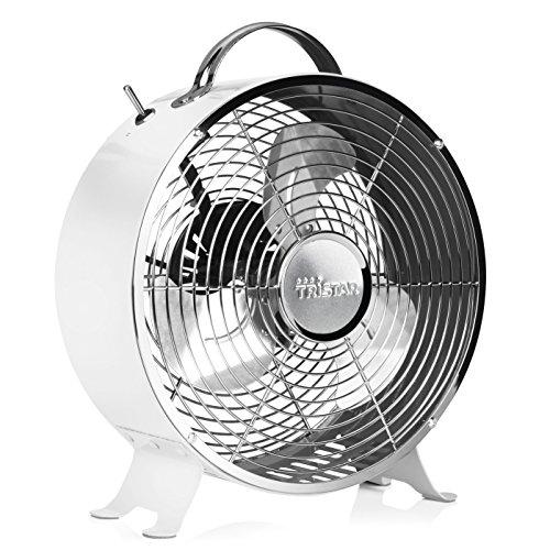 Ventilador de mesa retro Tristar VE-5967 – 25 centímetros – Blanco