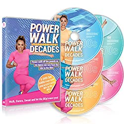 professional Power Walk Through The Decades 5 DVD Set: Walking, dancing and sweating with hits from the 1960s and 2000s