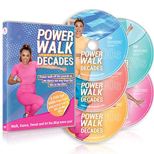 Power Walk Through The Decades 5 DVD Set: Walk, Dance And Sweat With Hits From The 60's To The 00's