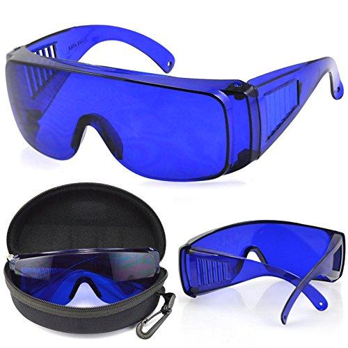 TRIXES Golf Ball Suchbrille mit Schutzhülle und Reinigungstuch