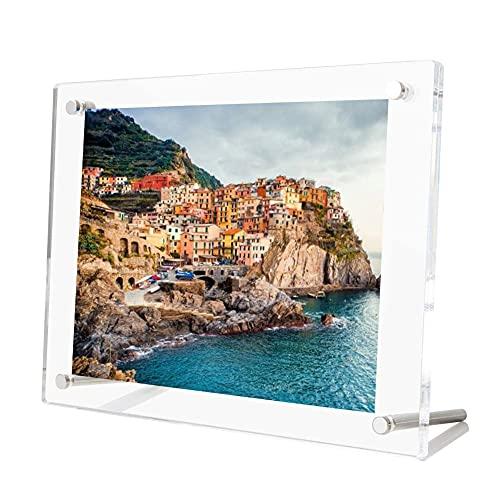 Cadres photo en acrylique transparent de qualité supérieure A4 (29,7 x 21 cm), affichage de cadre photo de bureau de table pour la décoration d'œuvres d'art de certificat de document