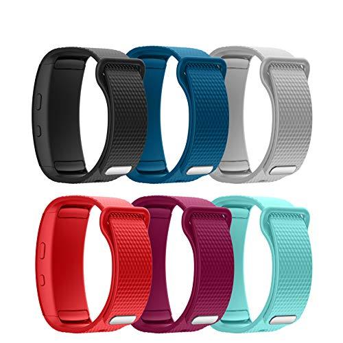 Syxinn Compatible con Gear Fit 2/Fit 2 Pro Correa de Reloj, Reemplazo de Banda de Silicona Suave Deportiva Pulsera de Repuesto para Gear Fit 2 Pro SM-R365/Gear Fit 2 SM-R360