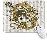 PATINISA Alfombrilla Raton Ordenador,Dragón Asiático Tai Chi Yin Yang Anillo Símbolo...