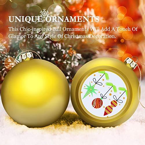 None-brands 3' Christmas Ornament Balls, Christmas Baubles, Mid Century Christmas Ornament-up, Christmas Tree Decorations Baubles, Ornaments for Christmas Birthday Wedding Decor