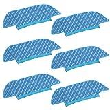 Almohadilla De Aspiradora 6 unids MOP PANTH POD Ajuste Compatible con ECOVACS DEEBOT OZMO Slim 10 DK33 DK35 Piezas de aspiradora Aspiradora Tela trapeador (Color : Blue)