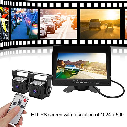 7 inch AHD HD video IPS scherm auto achteruitrijcamera, auto achteruitrijcamera 7 inch dual screen monitor high definition opnemen/foto's maken
