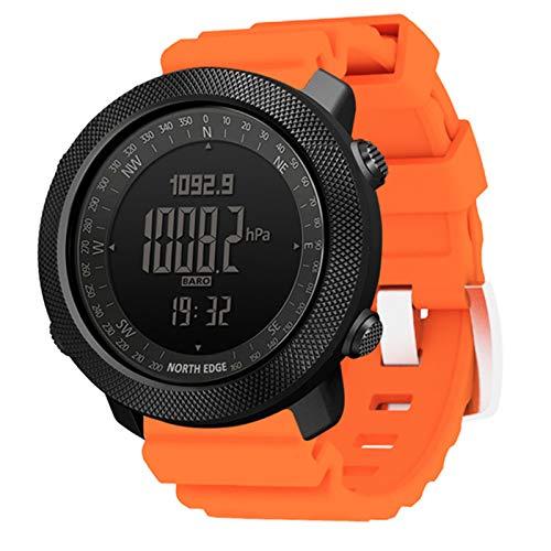 AKL Smart Watch Men's Speedometer Sports Watch Senderismo Altímetro Barómetro Compass Fitness Tracker Digital Waterable Waterproof Watch,E