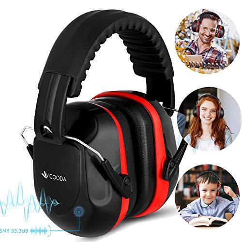 Kopfhörer Kinder Eshowee Gehörschutz Kapselgehörschutz Schutzkopfhörer - Faltbar Komfortabel Gehoerschutz - Zusammenklappbar Verstellbare Stirnband Ohrenschützer für Erwachsene Frau