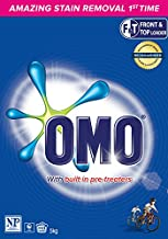 Omo Active Clean Laundry Detergent Washing Powder Front & Top Loader 5kg