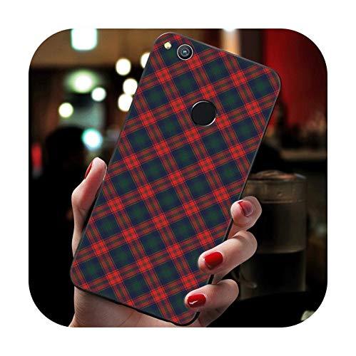 Tweed - Carcasa de silicona para Huawei P8 P10 P20 P30 P9 Lite Mini P20 P30 Pro Cover-B2 para P8 Lite 2017