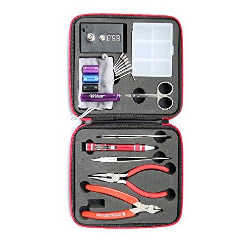 Walant Coil Master Kit - Bobina de Bricolaje DIY, Ohmmetro, Pinzas Diagonales, Tijeras, Destornillador, Cerámica / Codo Pinzas, Resistente al Calor (DIY Tool Kit)