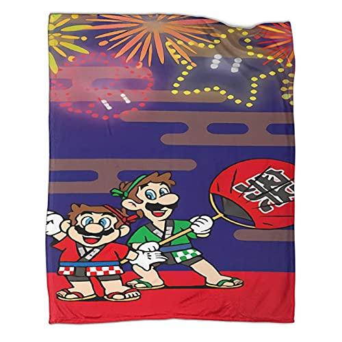 DRAGON VINES Manta de juego clásico Super Mario Bros Luigi Mario Mantas regalos para niños y mujeres 180 x 230 cm