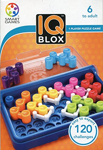 Smart Games SG 466 466 Strategiespel, Spel IQ Blox, 120 wedstrijden, meerkleurig, Multi