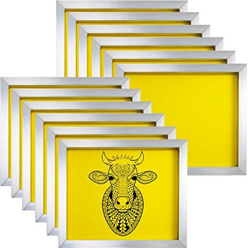 "VEVOR Malla de Serigrafía Red de Impresión12 unidades Marco de Pantalla de Aluminio 230 (64T) Marco de Madera para Serigrafía 20""x24"" (50.8x60.9 cm) Impresión de Pantalla"