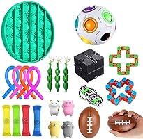 Fidget Sensory Toy Set, 22Er Pack Fidget Sensory Jouet Set, Ensentilation De Contrainte TOYSET, TOYS DE SRUCTION PREMIUM...