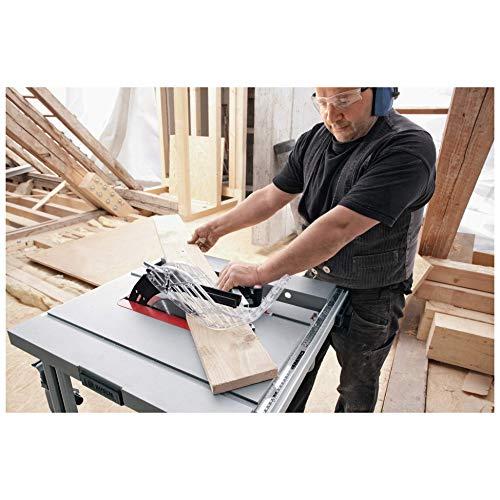 Bosch Professional GTS 10 J, 254 mm Sägeblattdurchmesser, 642 x 572 mm Tischgröße, Absaugadapter, Schiebestock, Sägeblatt, Winkelanschlag, Parallelanschlag - 2