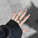 NA 24pcs / Set Uñas postizas Uñas postizas Rosa Azul Negro Puntas de uñas Artificiales Completas con Pegamento