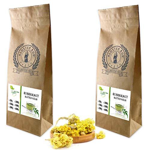 VITAIDEAL VEGAN® Ruhrkrautblüten ganz (Helichrysum arenarium) 2x100g, rein natürlich ohne Zusatzstoffe.