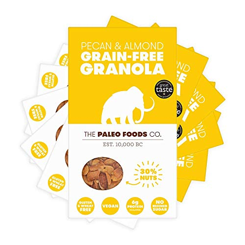 The Paleo Foods Company - 6 x 285g Grain and Gluten Free, Vegan Paleo Granola | Pecan & Almond
