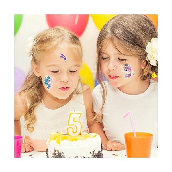 Unicorn Temporary Tattoos for Children Kids Girls(45Sheets),Konsait Great Girls Fake Stickers Waterproof Rainbow Unicorn… 9