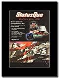 Gasolinerainbows - Status Quo - Status Quo Live Deluxe Edition Box - Revista montada Obra de Arte Promocional en una Montura Negra - Matted Mounted Magazine Promotional Artwork on a Black Mount