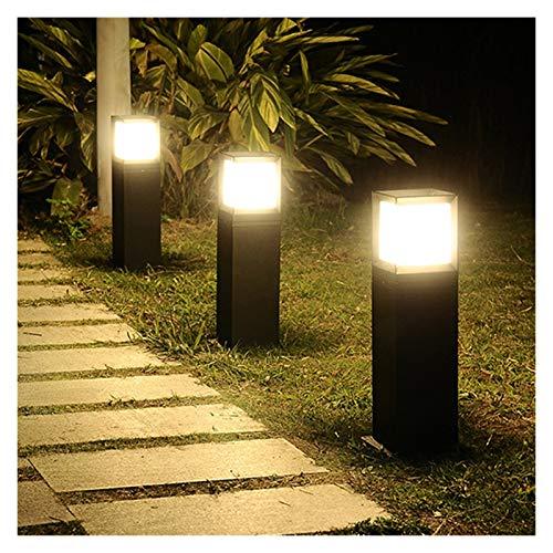 PENGYMY Lámpara de césped 60cm E27 Square Garden al Aire Libre Camino del césped de la lámpara Villa Patio Soporte Pilar Luz Parque Baliza Moderna del Paisaje de la lámpara