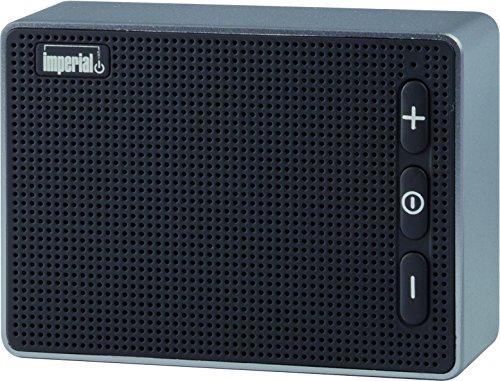 Imperial 22-9046-00 BAS 2 mobiler Wireless Lautsprecher (Bluetooth 4.2 für Apple und Android Smartphones,Tablet und MP3 Geräte, microSD-Kartenleser) schwarz