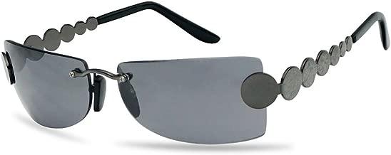 Super Unique Retro Rimless Light Tinted Sun Glasses 70's Vintage Disco Novelty Eyewear Glasses