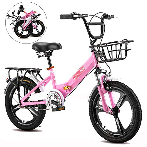 Bicicleta Plegable para Niños y Niñas, 16, 18, 20 Pulgadas Bici para...