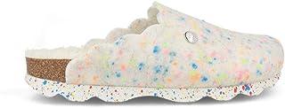 Zueco Bio Genuins realizado en Fieltro Reciclado Pet Color Blanco con Jaspeado Multicolor