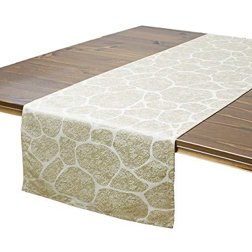 Tischläufer Stone, Naturstein-Look, 40x140 cm, beige
