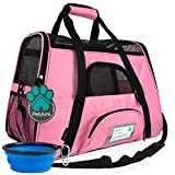 PetAmi Premium Airline Approved Soft-Sided Pet Travel Carrier   Ideal for Small - Medium Sized Cats, Dogs, and Pets   Ventilated, Comfortable Design with Safety Features (Small, Pink)