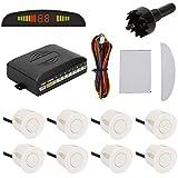 TKOOFN Kit de sensor de aparcamiento 4/8, sensores para el coche de sistema de aparcamiento digital...