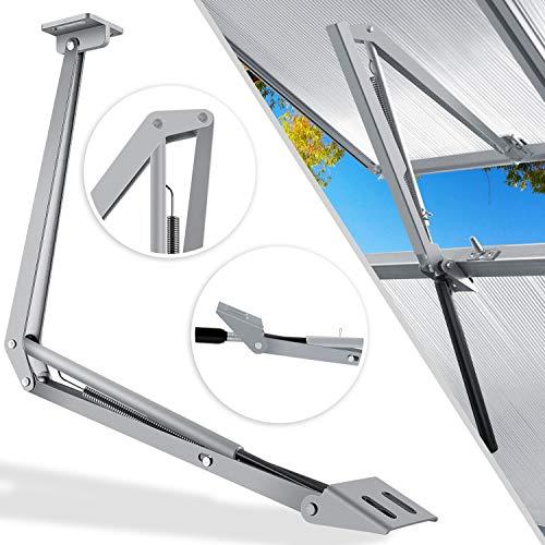 KESSER® Automatischer Fensteröffner für Gewächshaus 7,5 kg Hubkraft 45cm Öffnungshöhe stufenloser Öffnungswinkel Fensterheber automatisches Öffnen und Schließen durch Temperatursteuerung
