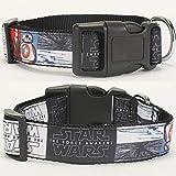 Collar Perro Ajustable Nuevo 1'25 Mm Cool Star Wars Patrón Impreso Collar De Perro para Mascotas, 1 Pulgada Superior Collar De Perro 2 Tamaño Disponible, 26 Cm A 36 Cm