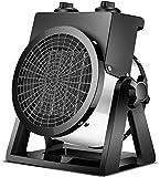 Calentador de ventilador eléctrico para habitación Calentadores de cerámica forzada con termostato ajustable Calentador de aire portátil 2000 3000W para oficina en casa, cocina, dormitorio y dormito