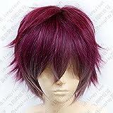 DIABOLIK LOVERS Sakamaki Ayato Dark Red mix Short Cosplay Wig Heat Resistant Synthetic Hair Wigs + Free Wig Cap
