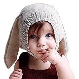 Tuopuda® Gorras Invierno Bebe Niño Niña Sombrero Orejas de Conejo Gorro de Punto (Gris)