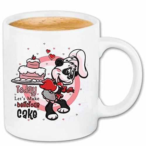 Reifen-Markt Kaffeetasse LUSTIGER Panda BÄR MIT Geburtstags Torte Panda BÄR ALS Konditor PANDABÄR BÄCKER Geburtstag Geburtstagsfeier ÜBERRASCHUNG Geschenkidee Keram